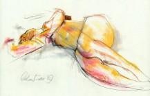 Life Drawing – Pastel
